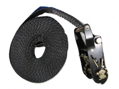 25MM Black Ratchet Strap 8M Endless Lashing - 1.5 Ton Tie Down Trailer Cargo Truck